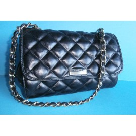 Jaeger Classic Quilted Leather Handbag With Gold Chain Handle
