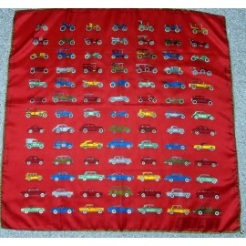 Fabulous Fiat Cars From 1899 to 1969 Vibrant Vintage Silk Scarf