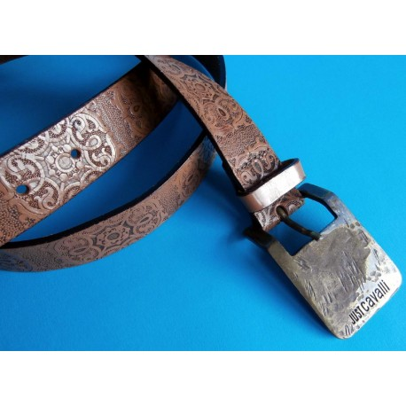 Just Cavalli Belt Tooled Leather Vintage Design