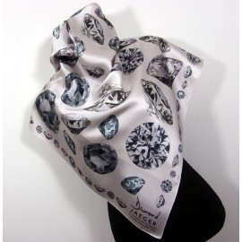 Jaeger Big Diamonds Commemorative Large Silk Scarf