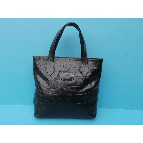 Mulberry Congo Leather Black Vintage Handbag