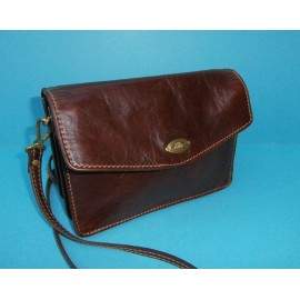 The Bridge Leather Conker Brown Vintage Shoulder Bag