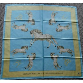 Yeguada de la Cartuja (Most Important Carthusian Horses In World) Silk Scarf